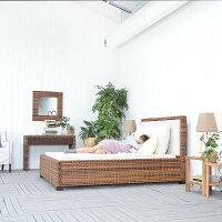 送料無料【レペンス】ベッド(セミダブル)(直輸入,北欧家具,木製家具,アジアン家具,雑貨)