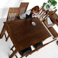 チーク・ダイニングテーブル【CT12】1400(アジアン家具)
