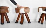 ★送料無料 ファースツール【トラング】 アジアン家具 椅子 いす ファー 木製 1人掛け