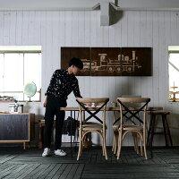[スーパーセール期間限定P10倍]★送料無料【フレジエ】ダイニングテーブル1500(PJT448)アジアン家具古木テーブル机デザイナーズチェアーメタルフレームダイニング北欧シンプルモダンブラウン黒ブラックナチュラル