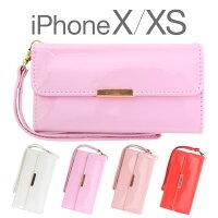 iPhone6,iPhone6s,ケース,カバー,手帳型,折りたたみ,カードポケット,ストラップホール,かわいい,可愛い,リボン,エナメル,シンプル