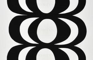 KAIVO(カイボ)ブラック(柄リピート単位で切り売り)【北欧生地・布切り売り】[M便 88/150]【10P05Apr14M】