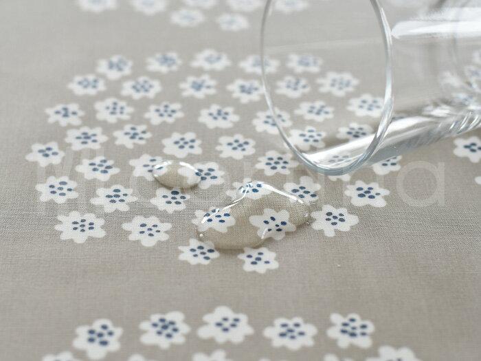 テーブルクロス撥水北欧生地マリメッコ145×160cmプケッティmarimekkoPUKETTIベージュ花柄おしゃれかわいい防水モダンコーティング生地加工