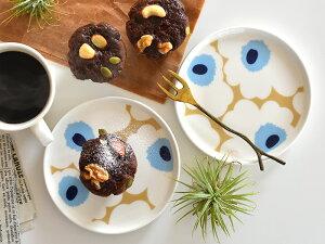 marimekko マリメッコ UNIKKO ウニッコ ベージュ×ブルー プレート お皿 13.5cm 【ギフト】【PP】|おしゃれ かわいい プレゼント 結婚祝い 女性 出産祝い 引っ越し祝い