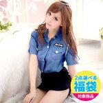 コスプレ/婦人警官/ポリス/肩ロープ付き・タイトスカートがセクシーなミニスカ婦人警官