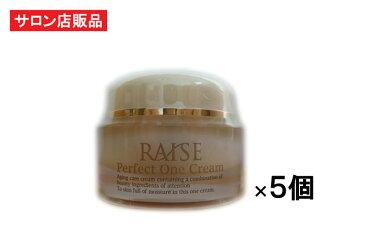 RAISE パーフェクトワンクリーム 50g×5個 【R-cell(リセル)】 EGF IGF FGF TGF 馬プラセンタ 低分子コラーゲン セラミド アルブチン等 高機能 サロン専売オールインワン美容クリーム