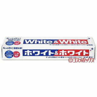 ライオン ホワイト&ホワイト すっきり爽快ミント香味(ムシ歯を防ぐ薬用ハミガキ) 150g LION