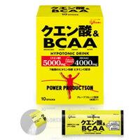【PT最大4倍】 グリコパワープロダクションクエン酸&BCAA12.4g×10袋【送料無料】 グリコ クエ...