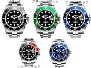 LOREO ダイバーウォッチ 20気圧 防水 腕時計 日付表示 自動巻き ルミナスハンズ 回転ベゼル ルミナスハンズ メンズ 男性