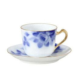 【送料無料】大倉陶園 ブルーローズ カップ&ソーサー(8011/57C)碗皿 ギフト