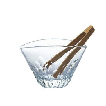 【送料無料】東洋佐々木ガラス 本格焼酎道楽 えくぼ アイスペール(竹トング付) (16個 1ct) (P-33602-JAN-1ct) [バー用品を安値でご提供][日本製]