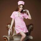 ピンクナース・Aラインミニワンピセクシー仮装ナースナース服看護婦セクシーナース白衣白衣の天使看護師