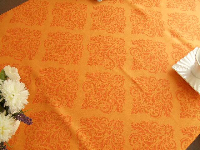 【フランス直輸入】撥水加工ジャガード織テーブルクロス(160×250cm) PRESTIGE プレスティージュ オレンジ L'ENSOLEILLADE ランソレイヤード【130206_free】【HLS_DU】