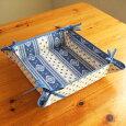 【フランス直輸入】プロヴァンス柄布製小物入れトレイ(白/紺)L'ENSOLEILLADEランソレイヤード