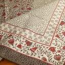 【フランス直輸入】ジャガード織マルチカバー(145×145cm)オブラックグレージュ