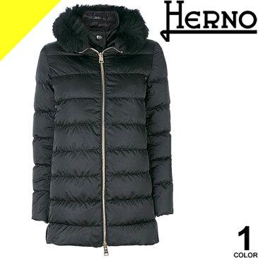 ヘルノ HERNO ダウン ダウンジャケット ダウンコート レディース アウター フォックスファー 大きいサイズ 通勤 防寒 軽量 黒 ブラック きれいめ 冬 ポーラテック PI0670D 12170