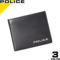 83b67b4f555d2e ポリス POLICE 財布 メンズ レディース 二つ折り ブランド ブランド 薄い 本革 黒 ブラウン ネイビー プレゼント