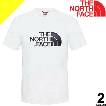ノースフェイス Tシャツ メンズ 半袖 ブランド 大きいサイズ クルーネック プリント ロゴ カジュアル アウトドア 黒 白 ブラック ホワイト THE NORTH FACE EASY TEE T92TX3 [ネコポス発送]