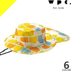 wpc w.p.c レインハット 帽子 キッズ 子供 男の子 女の子 UVカット 撥水 防水 晴雨兼用 雨具 レインウェア 日よけ付き メッシュ あご紐付き 自転車 アウトドア かわいい おしゃれ [ネコポス発送]