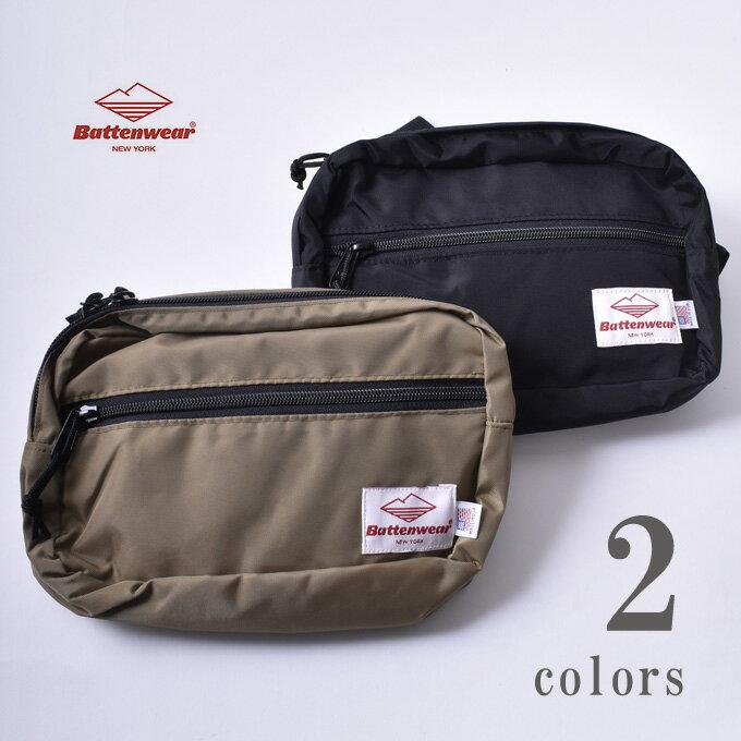 男女兼用バッグ, ボディバッグ・ウエストポーチ BattenwearWAIST PACK 2KhakiBlackS-50
