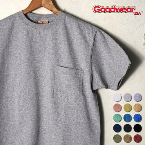 2017年版MADE IN USAグッドウェアS/S crew neck Pocket T-shirts半袖 クルーネックポ...