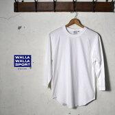 ★50%OFF♪SALE特価!MADE IN USA【WALLAWALLA SPORTS】ワラワラスポーツベースボールTシャツ無地 ホワイト [ゆうパケット対応]