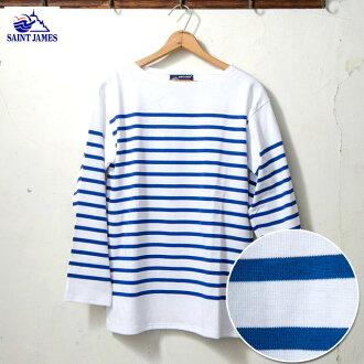 Saint James NAVAL naval Navarre border t-shirt 4 colors