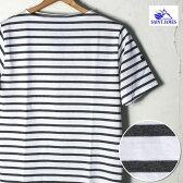 【SAINT JAMES】セントジェームスPIRIAC(ピリアック)半袖TシャツNEIGE/ACIER(ホワイト/霜降りチャコール)[ゆうパケット対応]