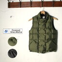 ★20%OFF♪SALE特価!MADE IN USA【CRESCENT DOWN WORKS】クレセント ダウン ワークスDouble Button Vest ダブルボタンベスト(ダウンベスト)全2色