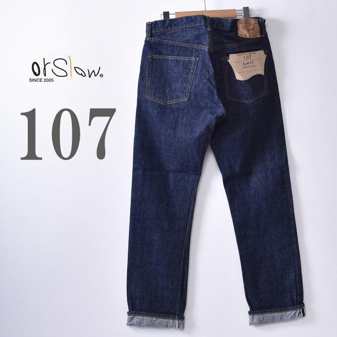 メンズファッション, ズボン・パンツ orslow107 MENS IVY FIT JEANS107 13.7oz ORIGINAL SELVEDGE DENIM ONE WASH81 z5x