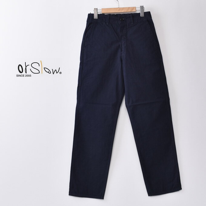 メンズファッション, ズボン・パンツ orslowUNISEX MODEL FRENCH WORK PANTSHERRING BONE TWILL COTTONNAVY02z5x