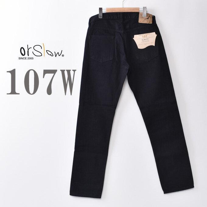 メンズファッション, ズボン・パンツ orslow107W MENS IVY FIT JEANS BLACK DENIM107W 13.7oz BLACK DENIMD61z5x