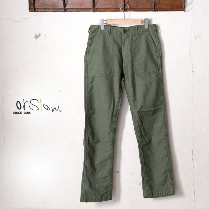 メンズファッション, ズボン・パンツ orslowMENS US ARMY SLIM FIT FATIGUE PANTS01-5032 US 4 GREEN16z5x