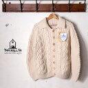 正規品【INVERALLAN】インバーアラン3A Lumber Cardigan(ランバーカーディガン)セーター ニットnatural ナチュラル