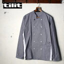 ★70%OFF♪SALE特価!Made in USA【TILIT】ティリットCHEF COAT シェフコートHOUNDSTOOTH 千鳥格子 ネイビー×ホワイト
