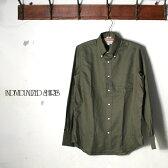 【INDIVIDUALIZED SHIRTS】インディビジュアライズドシャツL/S STANDARD FIT BD SHIRTロングスリーブ スタンダードフィットボタンダウン シャツケンブリッジオックスフォードオリーブz10x