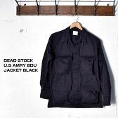 1997年製 デッドストック米軍 アメリカ軍BDU JACKET BLACK 357 バトルドレスユニフォームジャケット/特殊部隊用 ユーティリティジャケットBLACK ブラック