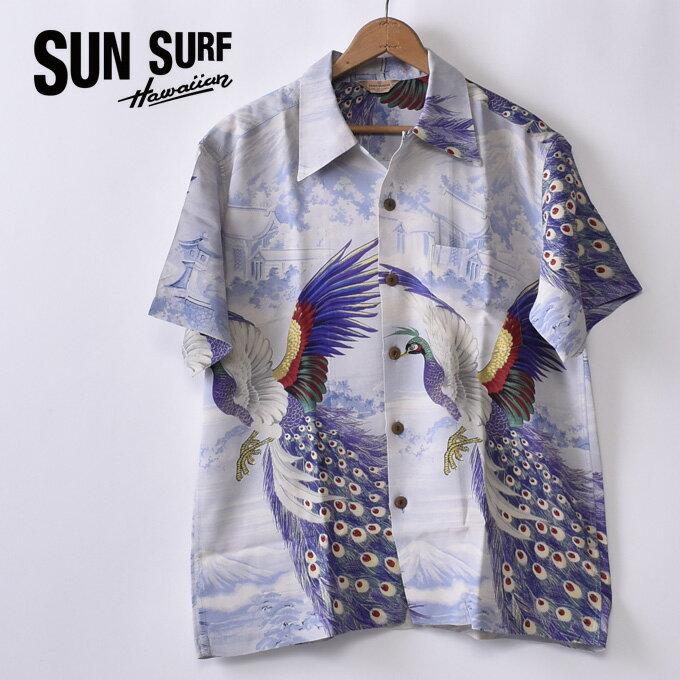 トップス, カジュアルシャツ 30OFF SALESUN SURFKAMEHAMEHA PEACOCKSHORT SLEEVE RAYON ALOHA SHIRTSS38421 125BL BLUE