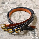 MADE IN ENGLAND【Jabez Cliff】ジャベツクリフ28mm SADLE LEATHER BELT(レザーベルト)全4色z10x