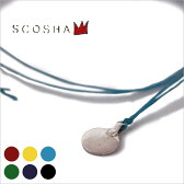 Made in USA【SCOSHA】スコーシャ#SN1 SIGNITURE NECKLACE FLAT CIRCLEシグニチャーネックレス フラットサークル全6色[ゆうパケット対応]