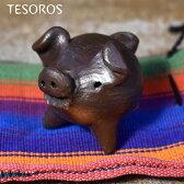【TESOROS】テソロスグッド ラッグ ピッグ幸福を呼ぶ三本足のブタ小ブラック
