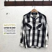 【MOJITO】モヒートABSINTHE SHIRT Bar.2.0(アブサンシャツ)2074-1101オープンカラーシャツバッファロープレイド
