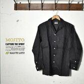 ★30%OFF♪SALE特価!【MOJITO】モヒートABSINTHE SHIRT Bar.2.0(アブサンシャツ)2071-1105オープンカラーシャツブラック