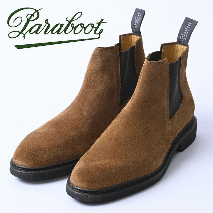 ブーツ, サイドゴア ParabootCHAMFORTGALAXY NOIRE-VEL COGNAC128437z10x