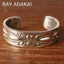 ナバホ族【RAY ADAKAI】レイアダカイDouble Stamp Bracelet 3/4inchダブルスタンプブレスレットSize M