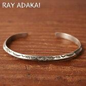 ナバホ族【RAY ADAKAI】レイアダカイTriangle Bracelet NarrowトライアングルブレスレットサイズMz5x