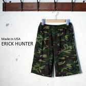 [ポイント10倍!]Made in USA【ERICK HUNTER】エリックハンタージャージー イージーショーツHUNTER CAMO ハンターカモ 迷彩