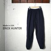 [ポイント10倍!]Made in USA【ERICK HUNTER】エリックハンタースウェットパンツNAVY ネイビー