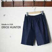 [ポイント10倍!]Made in USA【ERICK HUNTER】エリックハンターデニム イージーショーツブルー