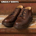 【GRIZZLY BOOTS】グリズリーブーツLINE MAN OXFORDラインマンオックスフォード(ワークブーツ)ブラウン